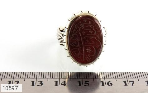انگشتر عقیق حکاکی یا صاحب الزمان استاد سید رکاب دست ساز - تصویر 6