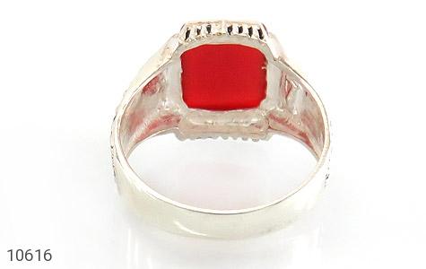 انگشتر عقیق قرمز درشت مردانه - تصویر 4