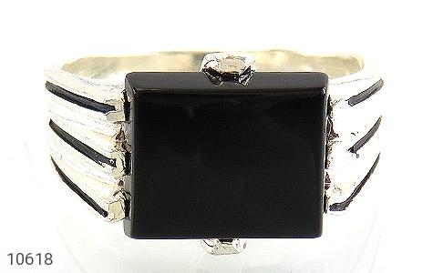 انگشتر عقیق سیاه خوش رنگ صفوی مردانه - تصویر 2