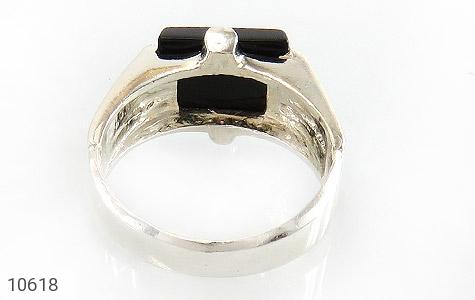انگشتر عقیق سیاه خوش رنگ صفوی مردانه - تصویر 4