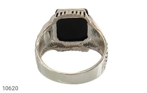 انگشتر عقیق سیاه خوش رنگ - تصویر 4