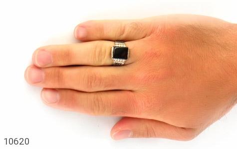 انگشتر عقیق سیاه خوش رنگ - عکس 7