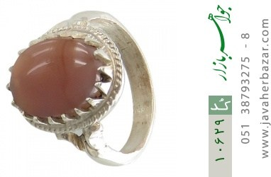 انگشتر عقیق یمن رکاب دست ساز - کد 10629