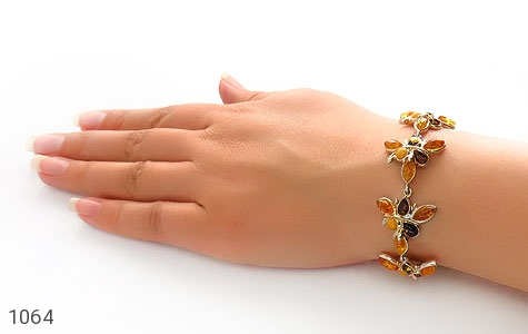 دستبند کهربا بولونی لهستان درجه یک درشت زنانه - تصویر 6