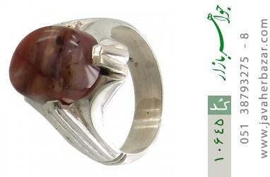 انگشتر عقیق یمن رکاب دست ساز - کد 10645