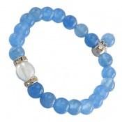 دستبند جید آبی خوش رنگ زنانه کد 10648