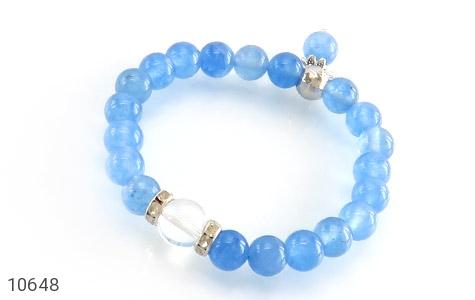 دستبند جید آبی خوش رنگ زنانه - عکس 1