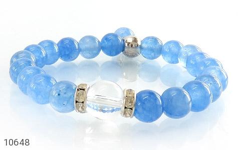 دستبند جید آبی خوش رنگ زنانه - تصویر 2