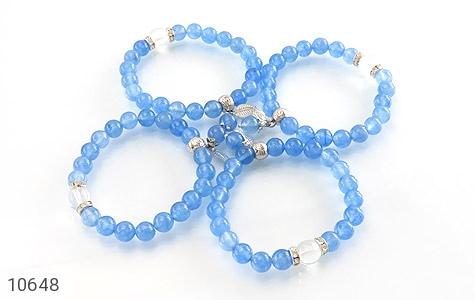 دستبند جید آبی خوش رنگ زنانه - عکس 3