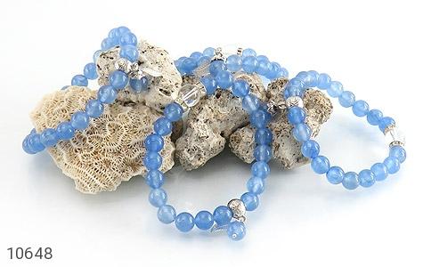 دستبند جید آبی خوش رنگ زنانه - تصویر 4