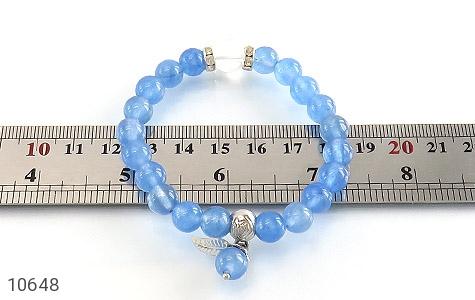 دستبند جید آبی خوش رنگ زنانه - عکس 5