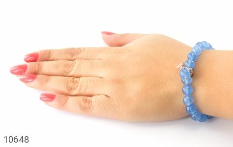 دستبند جید آبی خوش رنگ زنانه - تصویر 6