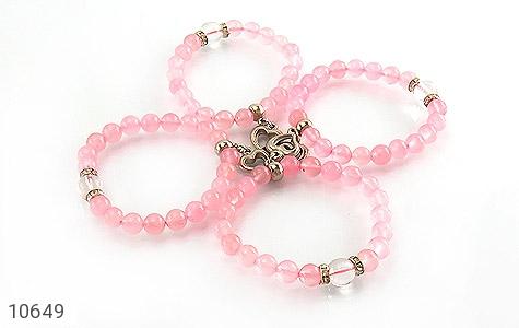 دستبند جید خوش رنگ آویز قلب زنانه - عکس 3