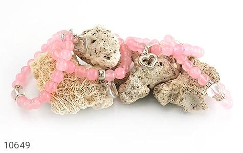 دستبند جید خوش رنگ آویز قلب زنانه - تصویر 4