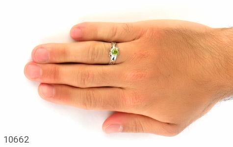 انگشتر زبرجد خوش رنگ مردانه - عکس 7