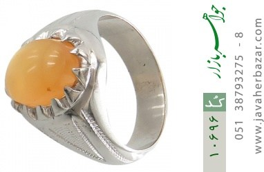 انگشتر عقیق یمن حکاکی شرف الشمس رکاب دست ساز - کد 10696