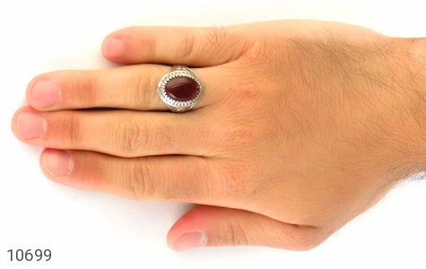 انگشتر عقیق یمن رکاب دست ساز - عکس 7