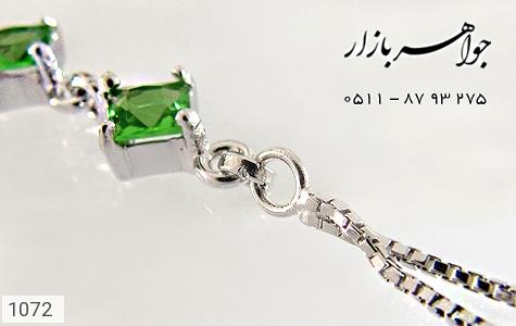 دستبند نقره آب رودیوم سفید زنانه - عکس 3