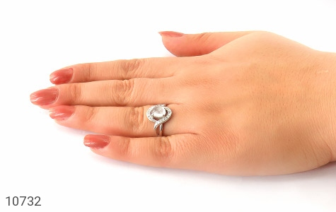 انگشتر دُر نجف طرح آیناز زنانه - عکس 7