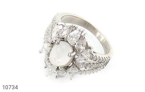 انگشتر دُر نجف طرح جواهری زنانه - عکس 1