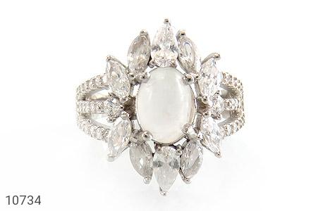 انگشتر دُر نجف طرح جواهری زنانه - تصویر 2