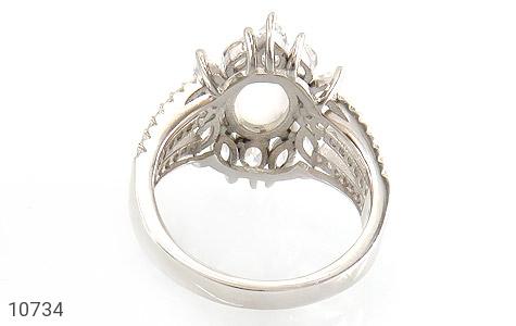 انگشتر دُر نجف طرح جواهری زنانه - تصویر 4