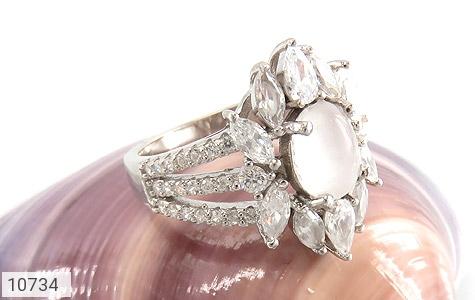 انگشتر دُر نجف طرح جواهری زنانه - عکس 5