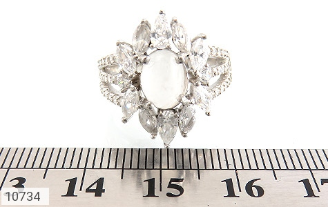 انگشتر دُر نجف طرح جواهری زنانه - تصویر 6