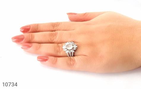 انگشتر دُر نجف طرح جواهری زنانه - عکس 7