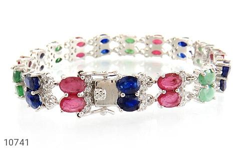 دستبند زمرد و یاقوت سلطنتی و باشکوه زنانه - تصویر 2