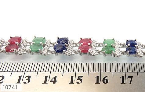 دستبند زمرد و یاقوت سلطنتی و باشکوه زنانه - عکس 5