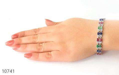 دستبند زمرد و یاقوت سلطنتی و باشکوه زنانه - تصویر 6