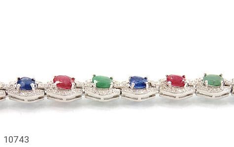 دستبند زمرد و یاقوت پرنسسی و فاخر زنانه - عکس 1