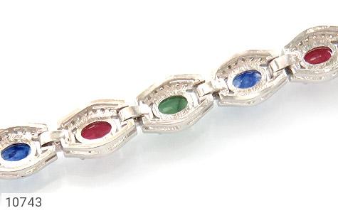 دستبند زمرد و یاقوت پرنسسی و فاخر زنانه - عکس 3