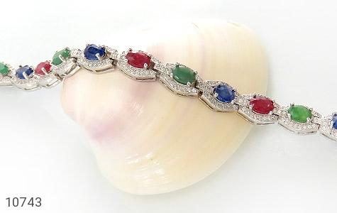 دستبند زمرد و یاقوت پرنسسی و فاخر زنانه - تصویر 4