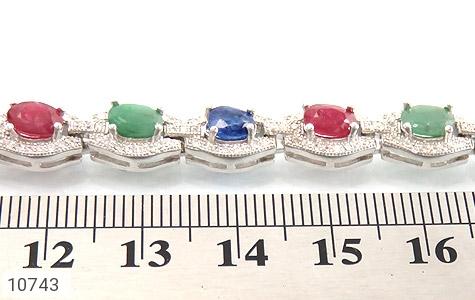 دستبند زمرد و یاقوت پرنسسی و فاخر زنانه - عکس 5