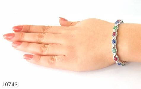 دستبند زمرد و یاقوت پرنسسی و فاخر زنانه - تصویر 6