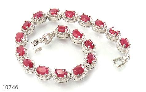 دستبند یاقوت سرخ اشرافی زنانه - عکس 1