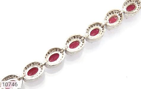 دستبند یاقوت سرخ اشرافی زنانه - تصویر 2