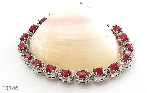 دستبند یاقوت سرخ اشرافی زنانه - عکس 3