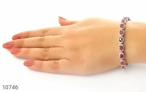 دستبند یاقوت سرخ اشرافی زنانه - عکس 5