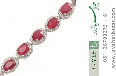 دستبند یاقوت سرخ اشرافی زنانه - کد 10746