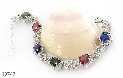 دستبند زمرد و یاقوت درشت طرح مجلسی زنانه - عکس 3