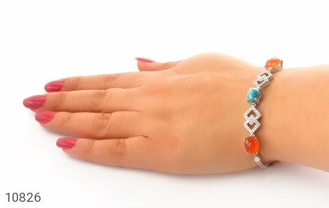 دستبند فیروزه و عقیق یمن - تصویر 4