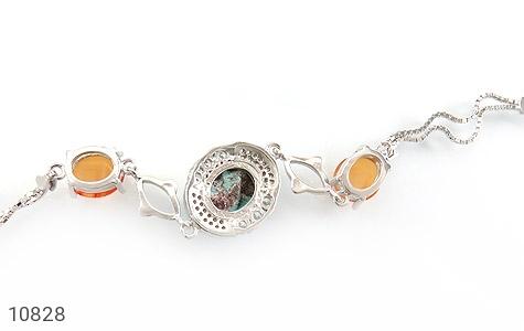 دستبند فیروزه و عقیق یمن - تصویر 2