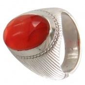 انگشتر عقیق یمن تراش الماس فاخر مردانه