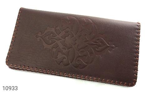 کیف چرم طبیعی دست دوز طرح دار - عکس 1