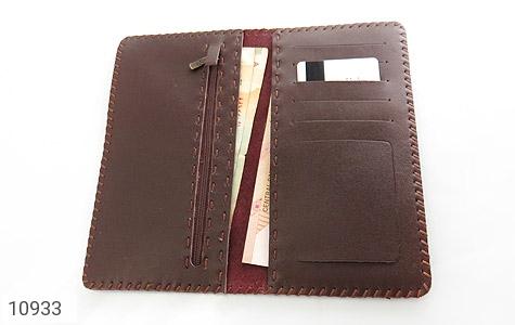 کیف چرم طبیعی دست دوز طرح دار - تصویر 6
