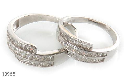 حلقه ازدواج نقره طرح هانا - عکس 1