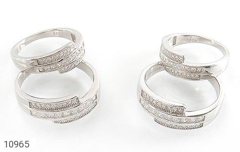 حلقه ازدواج نقره طرح هانا - تصویر 2